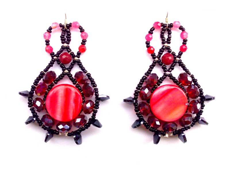 Lucky Charm Ruby - earrings