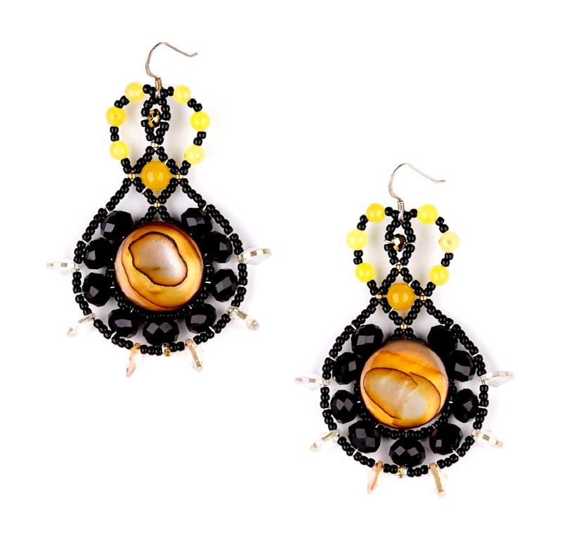 Lucky Charm Yellow Topaz - earrings