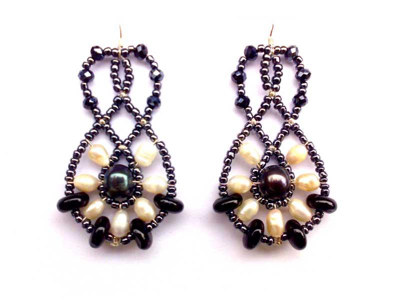 Mini Lucky Charm Onyx - earrings