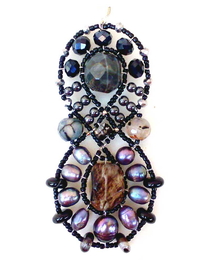 Galaxy Black Pearl - pendant