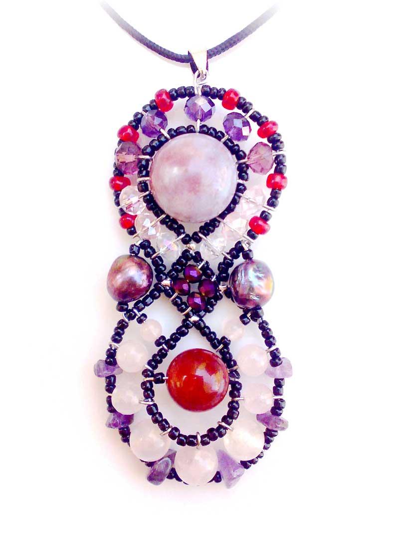 Galaxy Rose Quartz - pendant