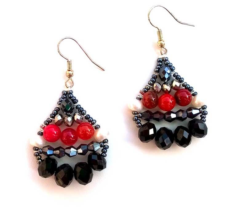 Little Mermaid Fire Agate - earrings