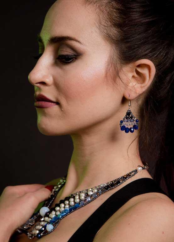 Little Mermaid Sapphire - earrings