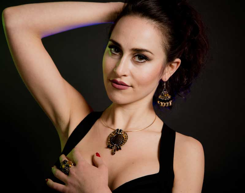 Mermaid Picasso Jasper - earrings