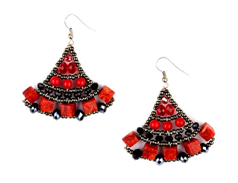 Mermaid Coral - earrings