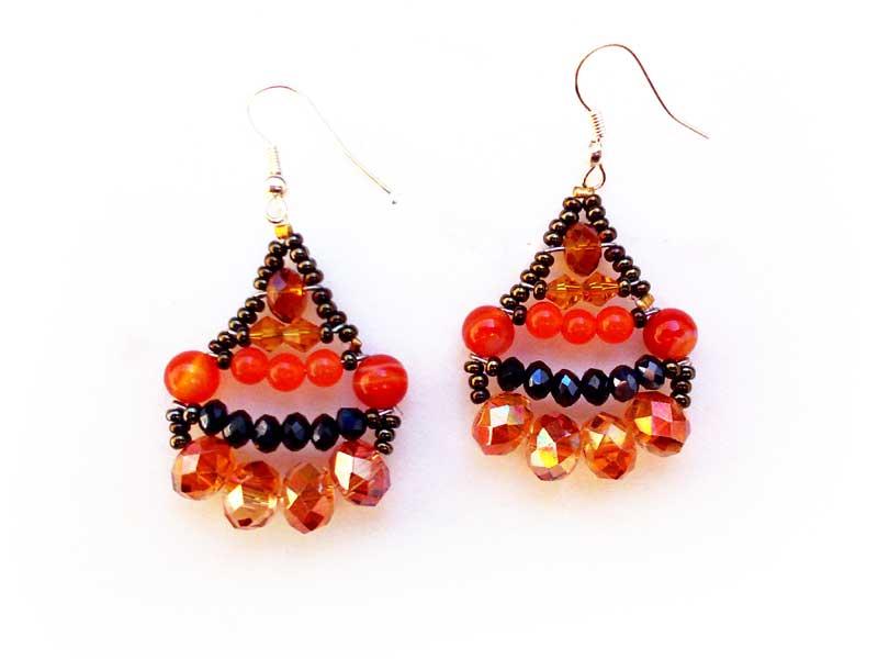Little Mermaid Agate - earrings