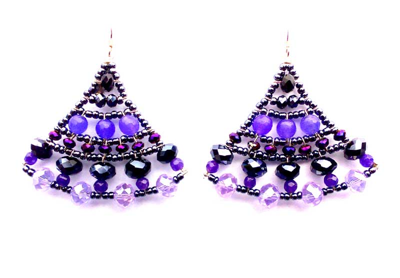 Mermaid Amethyst - earrings