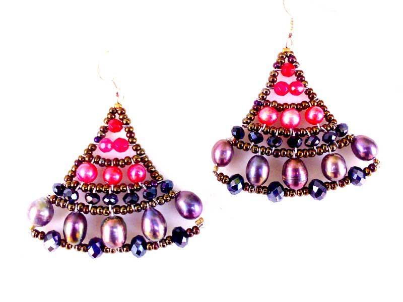 Mermaid Fuchsia - earrings