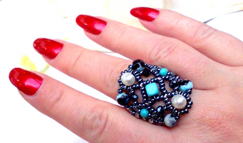 Sheherezade Turquoise & Pearl - ring