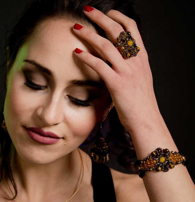 Sheherezade Tiger Eye - ring & bracelet