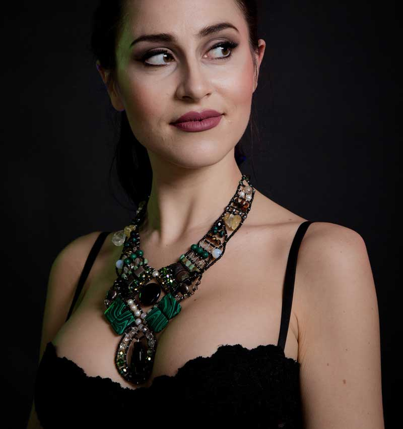 Andromeda-Malachite Mediterranean style statement necklace.jpg