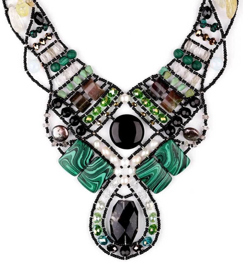 ANDROMEDA-MALACHITE-Mediterranean style statement necklace 2.jpg