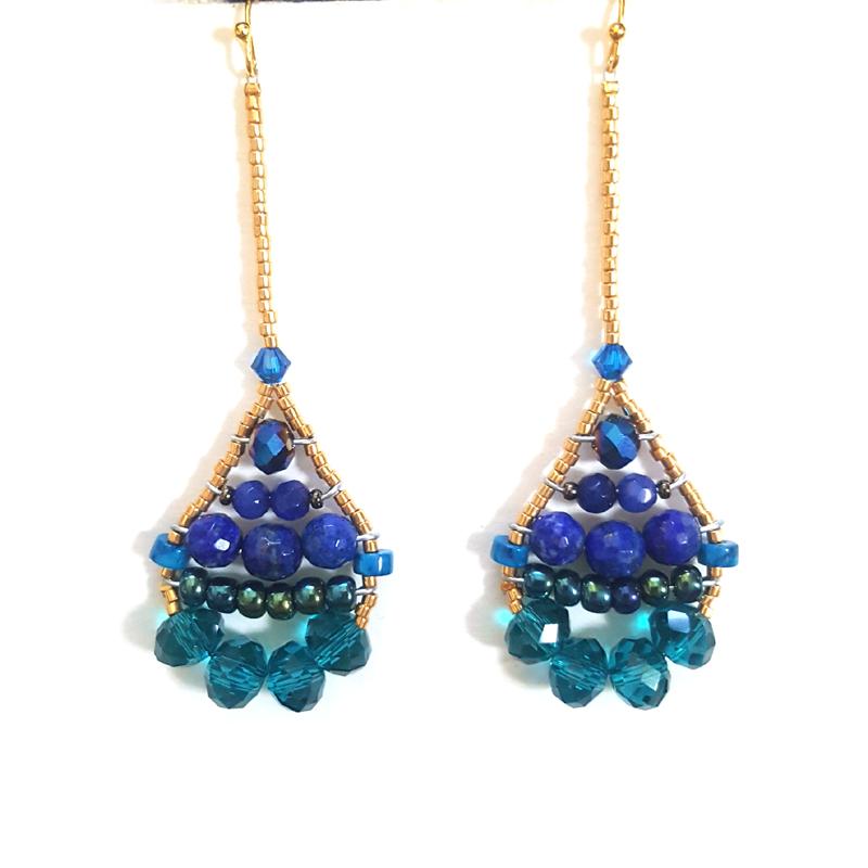 Vintage 1980s Mermaid tail  earrings in purple