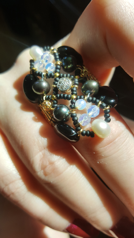 Sheherezade Black Pearl & Diamonds
