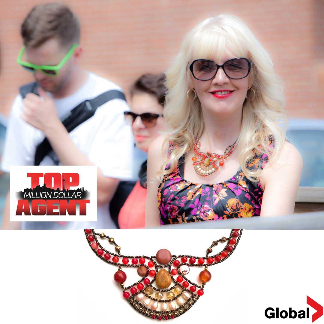 "Inez Kudryk star agent in the TV show ""Top Million Dollar Agent"". Canada"