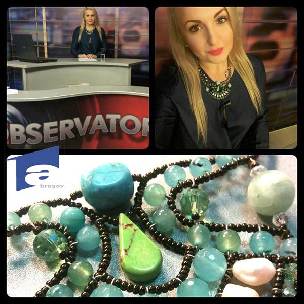Karla Titileanu - News anchor Antena 1 TV - Observator. Romania.