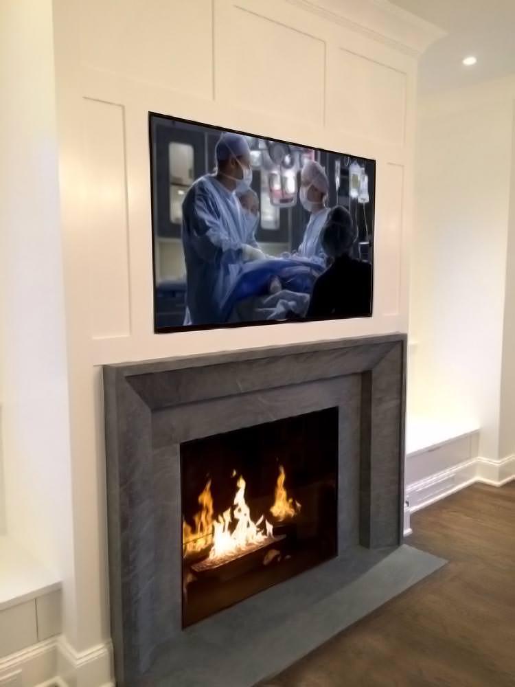 Recessed TV Electric Fireplace Mahnattan NY.jpg