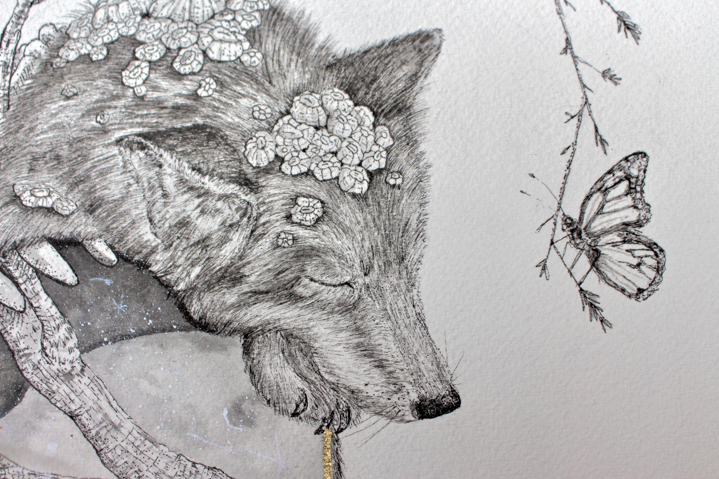 "Detail of ""In the Bloom of Surrender"""