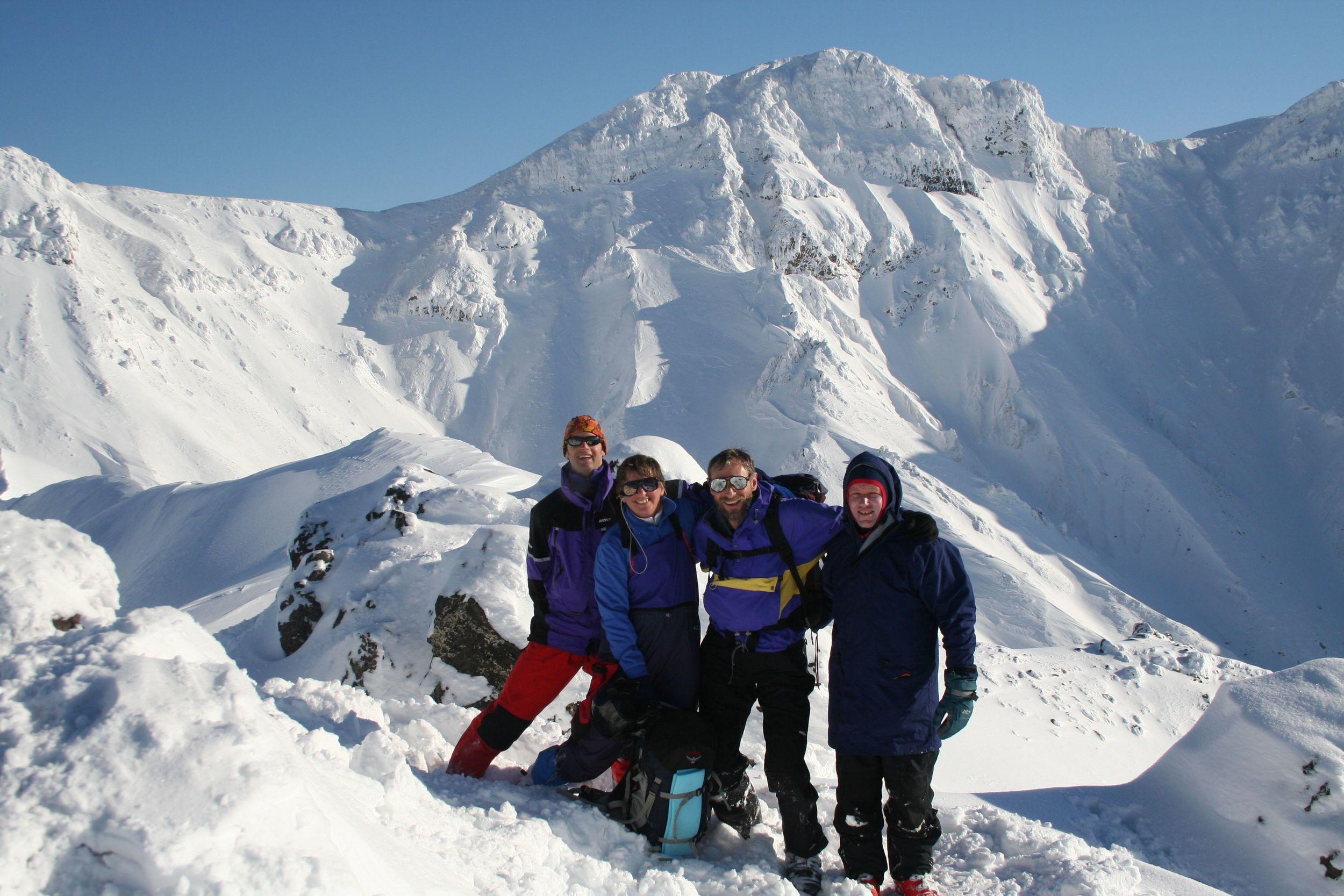 Summit of Sandan Yama Tokachi Mountains