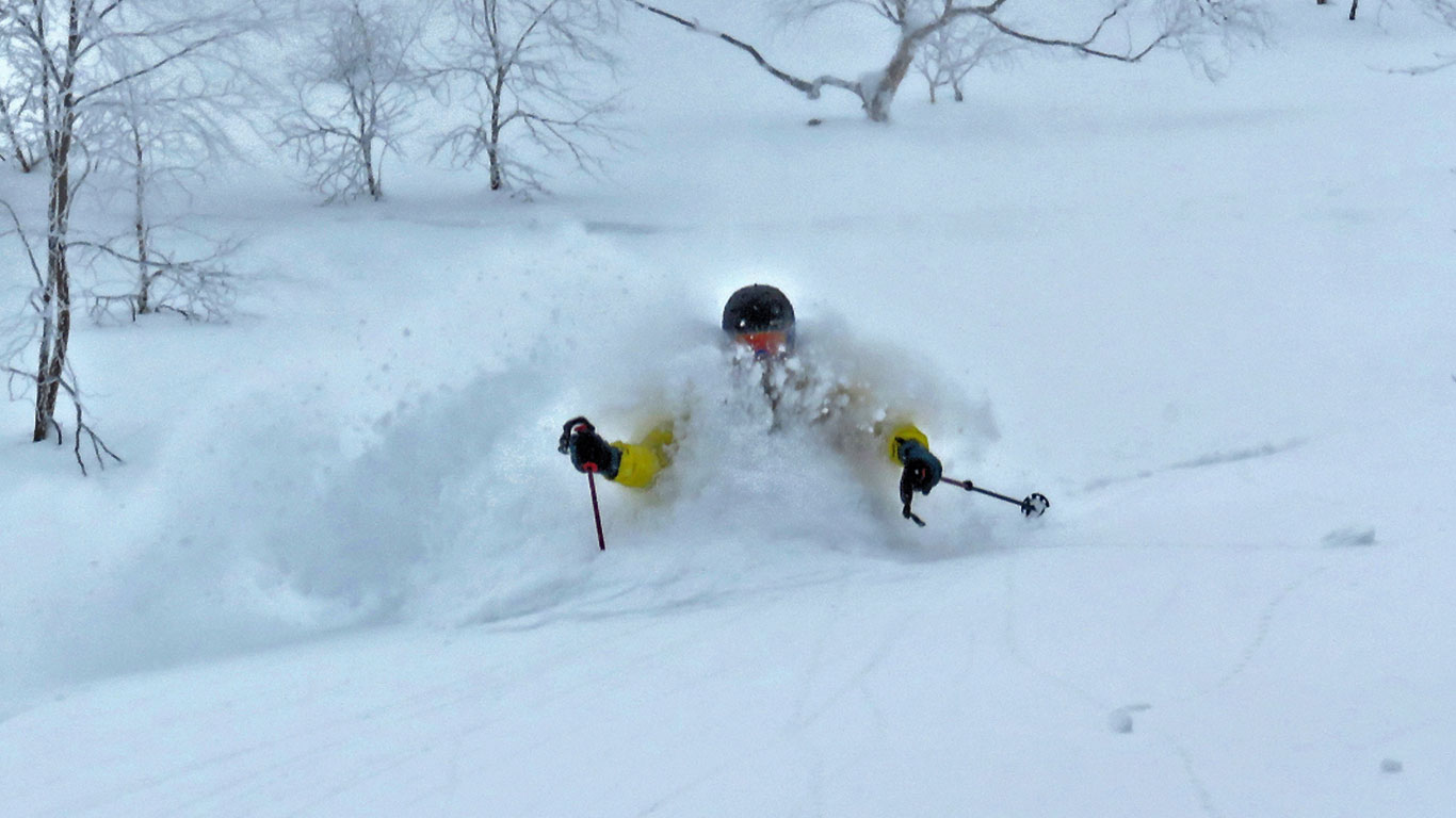 Furano off piste powder day.