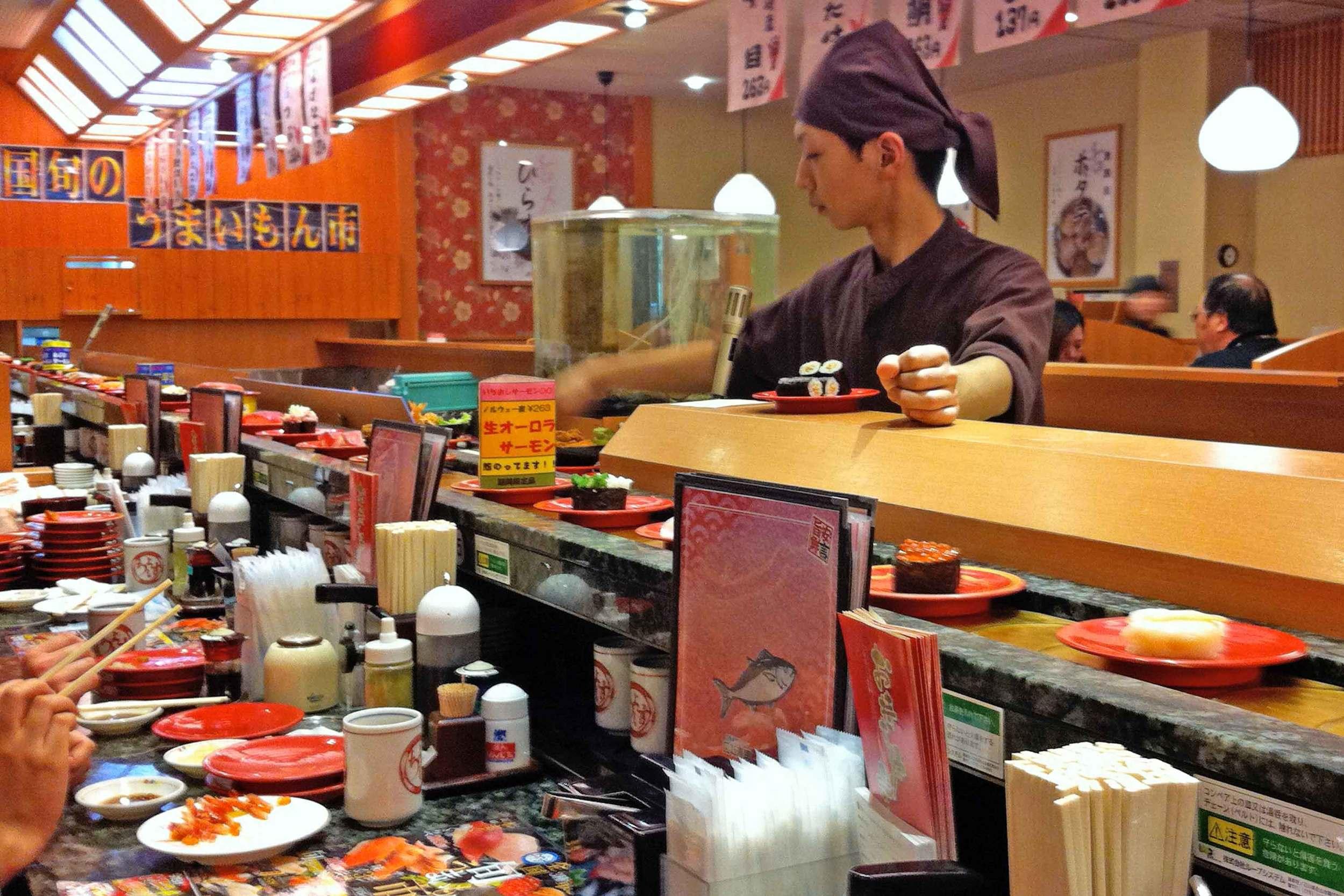 Delicious fresh Sushi, Asahikawa.