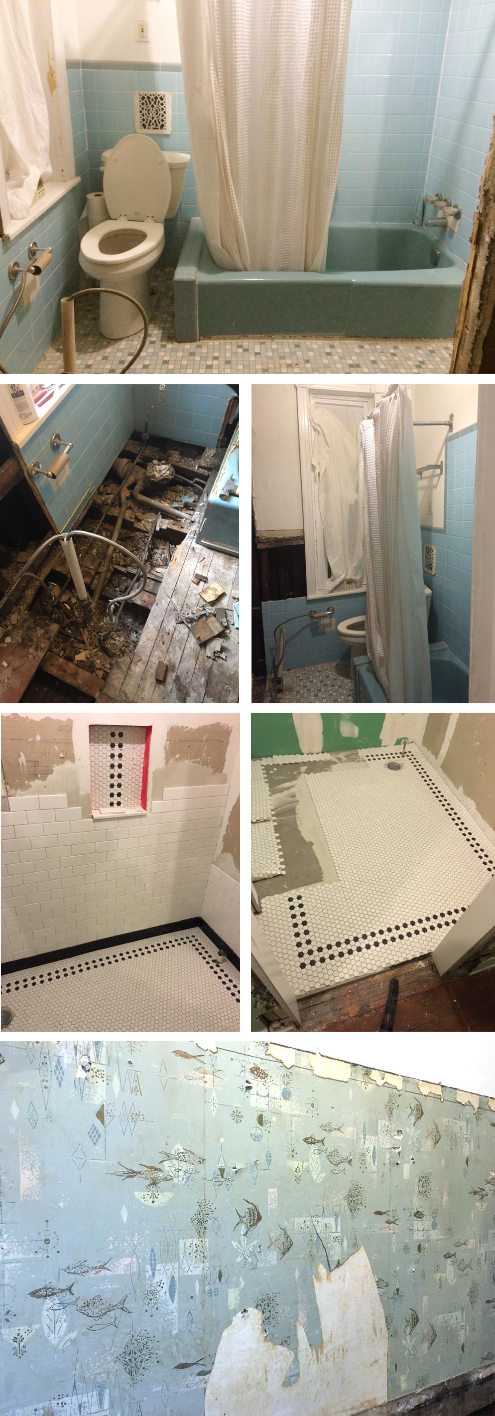 process shots Kendra Lebo bathroom
