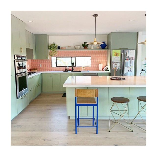 I've said this before, but this is officially my favorite kitchen, design and photo by @erictrine. Obsessed! Oh and cobalt stool 💯