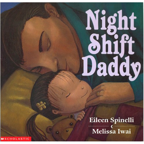 "Night Shift Daddy  PreSchool-Grade 1-In a lovely rhythmic text, a little girl describes her routine with her father as evening comes: ""Night shift Daddy swings me high,/shares his milk and apple pie,/rocks me in the rocking chair,/reads to me and Teddy Bear."" Then he goes off to work as his daughter watches from the window. In the morning just the reverse happens: the little girl and her daddy eat breakfast together and then ""I lead him to the rocking chair,/then read to him and Teddy Bear,"" after which she tucks him into bed before going out to play. The soft, dark, jewel-toned illustrations evoke feelings of coziness, underlined by the pet cat pictured on almost every spread. The love between the two protagonists is beautifully conveyed, by both words and pictures, making this a perfect bedtime read-aloud, especially for families in which an adult works the night shift. A unique and special treat. School Library Journal  Judith Constantinides, formerly at East Baton Rouge Parish Main Library, LA   Copyright 2000 Reed Business Information, Inc.      ""...with accompanying illustrations painted with the dark tones of night and winter, this loving story is perfect for bedtime sharing."" Children's Literature       ""In this cozy lap-read each full-page illustration is exquisitely rendered in deep, rich tones sure to invoke sweet dreams."" Kirkus    Hyperion 2000    ISBN-10: 0439221382"