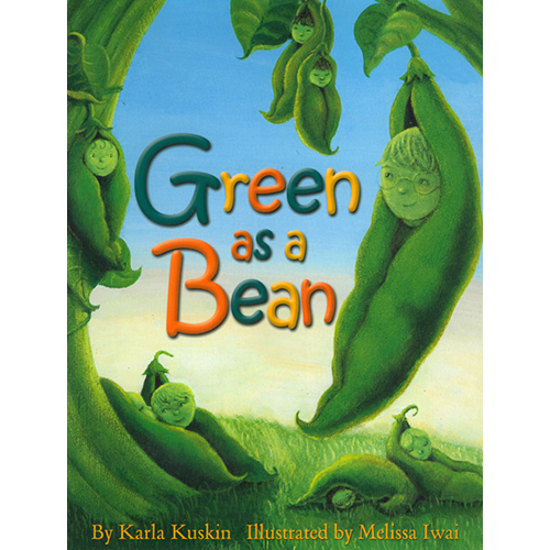 """Green as a Bean  """"Kuskin's 1960 text, Square as a House , gets a new title and, thanks to Iwai's ( B Is for Bulldozer ) velvety, fanciful pictures, a new lease on life. With a bespectacled, wide-eyed boy serving as a pretend tour guide, the book unfolds in a series of rhyming """"What if"""" musings.""""  (From a Publisher's Weekly starred review)  """"Kuskin offers more winning poetry in this cheerful picture book that is sure to inspire loud crowd participation. The rhyming text is a game of hypothetical questions: """"If you could be soft / would you be the snow / or twenty-five pillows / or breezes that blow / the blossoms that fall from / the sassafras tree? / Tell me, sweet soft one, / what would you be?"""" More questions follow, each representing a different quality--loud, fierce, small, green, blue, bright, and so on. Lines in expertly modulated rhyme and meter encourage children to imagine themselves as everything from a tiny """"mouse's house's front door key"""" to the whole of the sky, and the parade of images, both profound and silly, are nicely extended in Iwai's bright, fanciful acrylic paintings. As in so much of Kuskin's work, the enjoyable, even hypnotic sounds and the meaning of the words reinforce each other beautifully; """"If you could be loud,"""" for example, is followed by forceful lines that demand a strong, assertive voice: """"thunder at night,"""" the """"howl of a hound,"""" """"the pound of the sea."""" Sure to be a read-aloud favorite, this will also be an excellent choice for elementary poetry units; it may well inspire students to write their own verses about infinite possibilities."""" Gillian Engberg   Copyright © American Library Association. All rights reserved   (From a Booklist starred review)"""