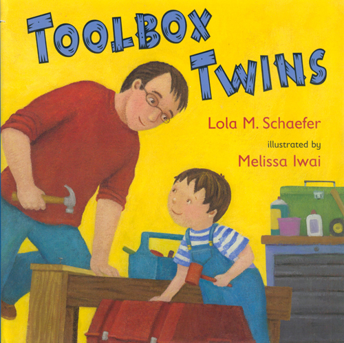"Toolbox Twins    2007 Bank Street   College of Education    Best Book    2007 Kansas State Reading Circle   Recommended Book    ""The toolbox twins, Vincent and his dad, work together around the house. Both have boxes stocked with the tools they will need for a variety of jobs. Each turn of the page brings a new rhyme with either a double-page illustration or two pictures on facing pages showing the father and son at work. Colorful acrylic paintings illustrate the rhyming text in a simple, direct manner, focusing on the companionable pair and how each toolbox twin uses familiar household tools. The many preschoolers who are fascinated by tools will adore this."" Booklist"
