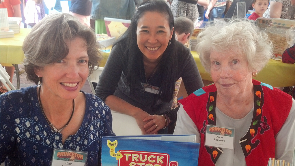 Last year at the festival with Lizzy and Anne Rockwell