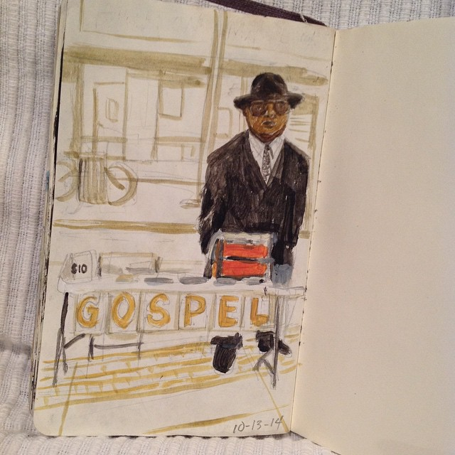 There are a lot of these guys around Borough Hall selling custom mixed gospel tapes.