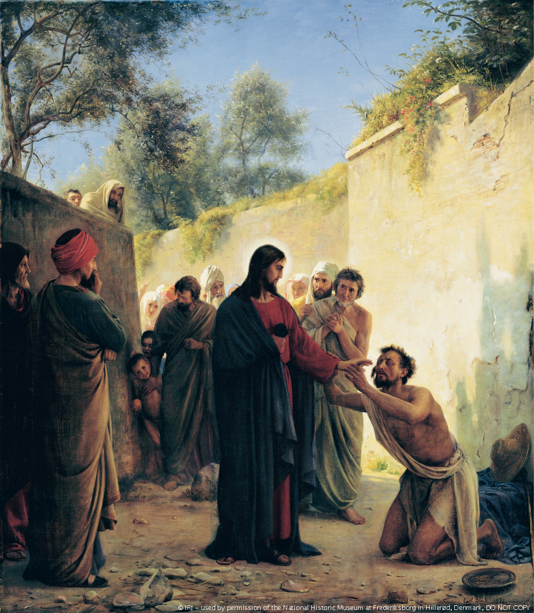 "Carl Bloch's, ""Healing of the Blind Man by Jesus Christ """