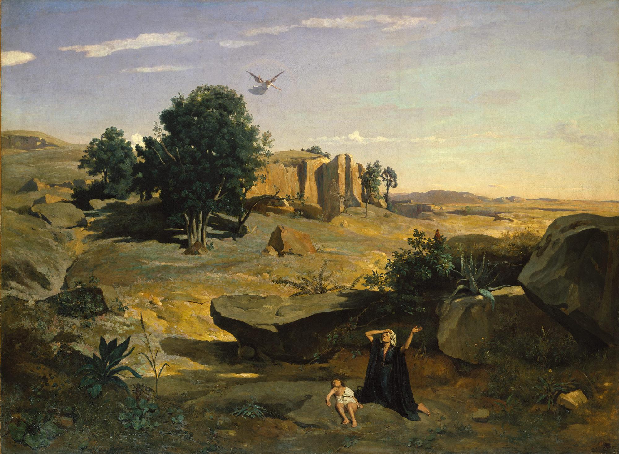 Hagar in the Wilderness  Artist:Camille Corot (French, Paris 1796–1875 Paris) |Date:1835