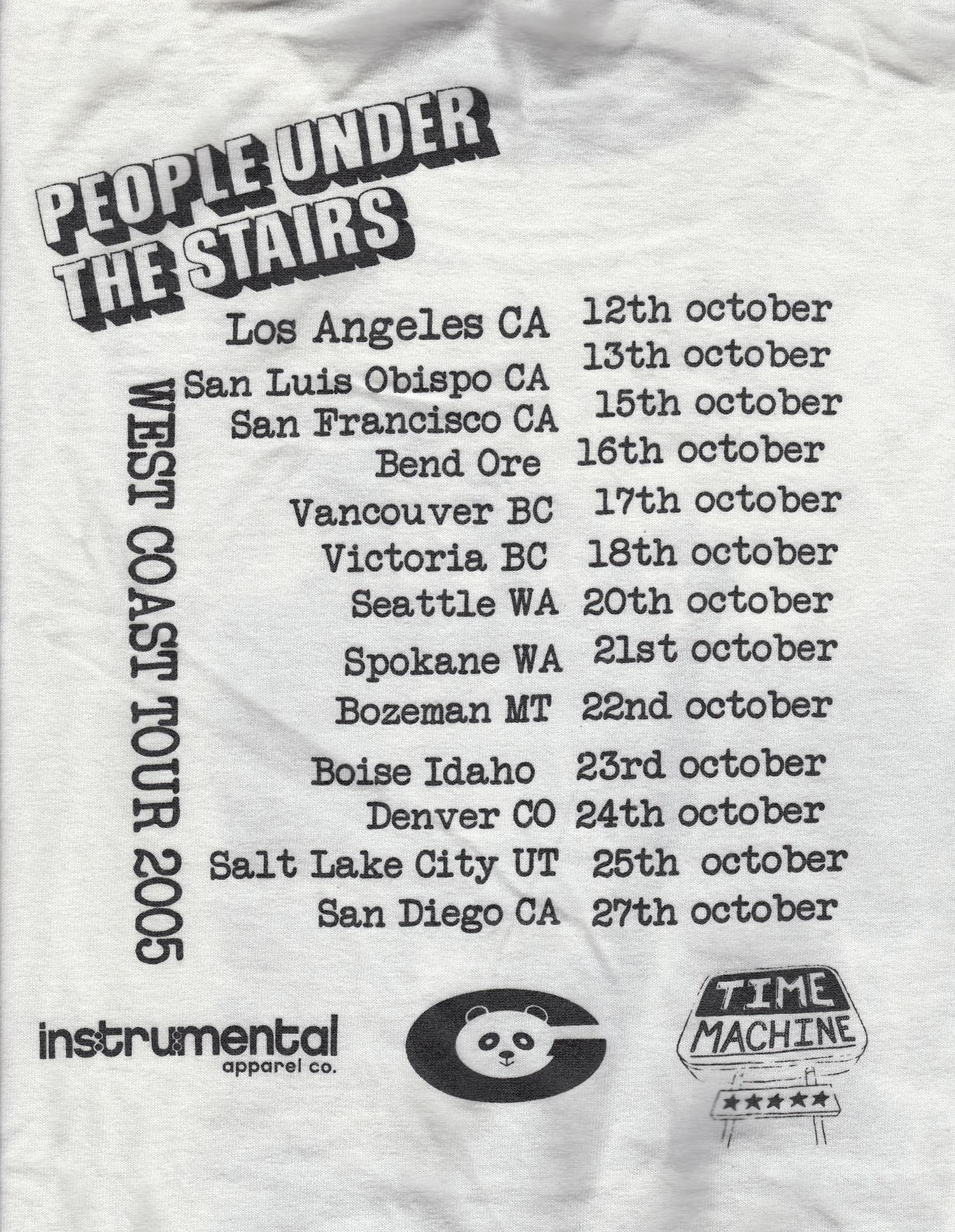 13 City, West Coast Tour, USA
