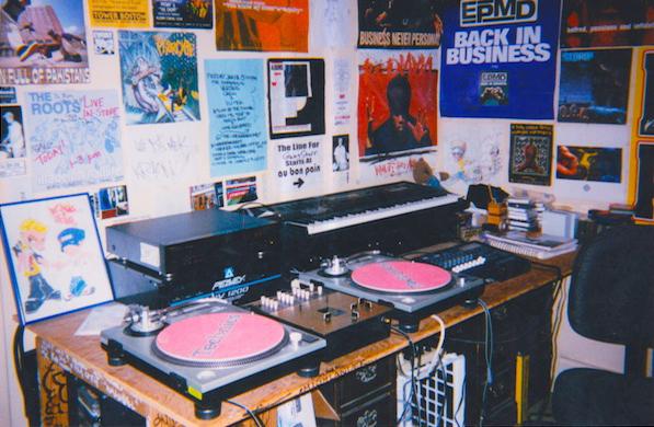 Matt's bedroom studio during his radio days.