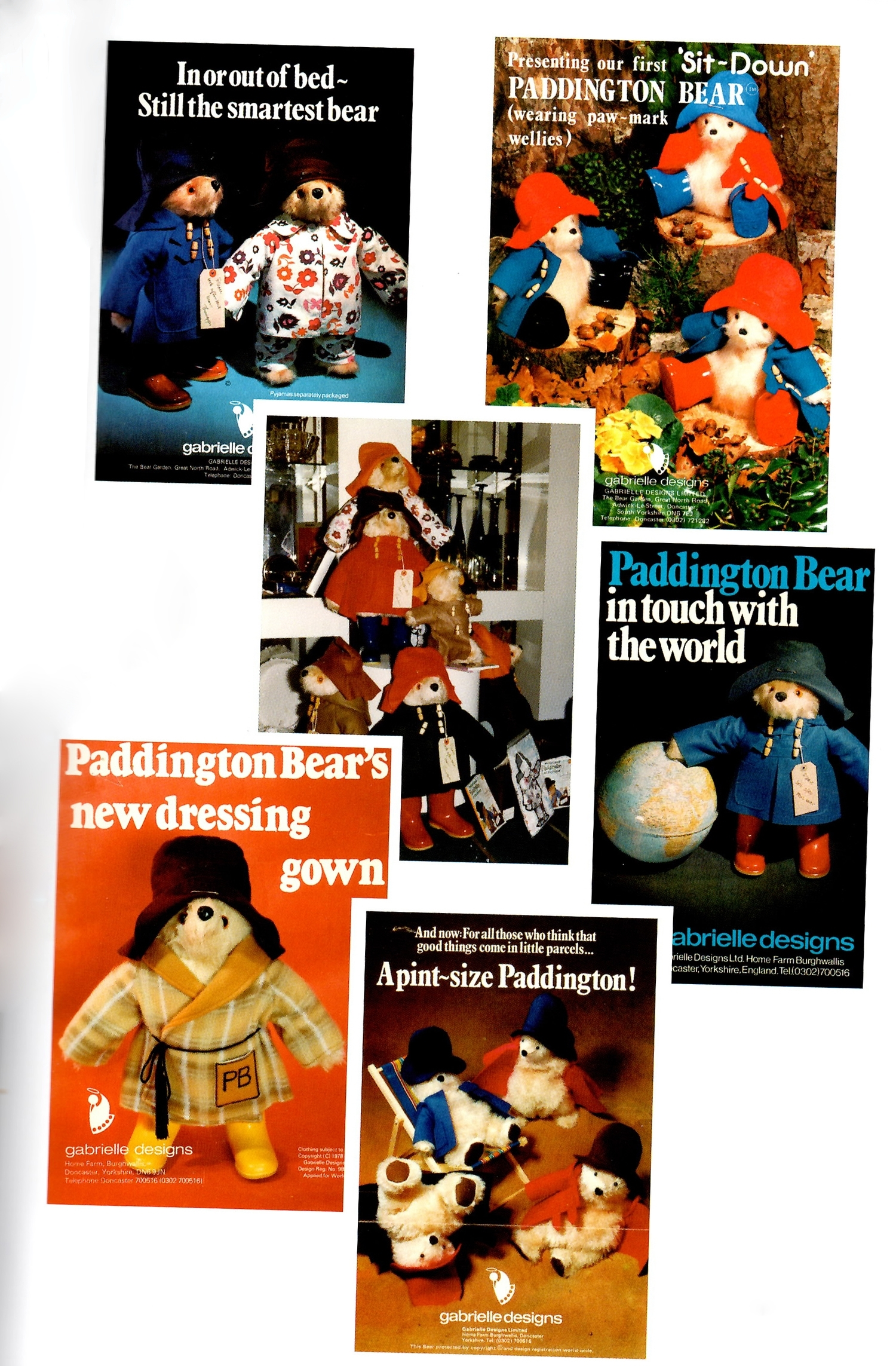"""Original Gabrielle Designs Flyers taken from """"Bearly Believable"""" by Shirley Clarkson"""