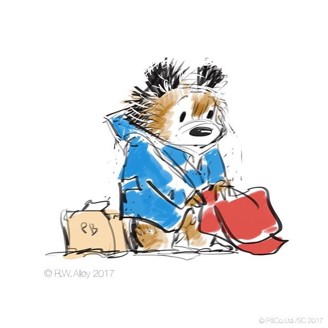 The death of sir Michael Bond brought a great sadness to PB fans across the globe this week. R.W Alley sketched this beautiful tribute illustration in loving memory of our furry friends creator.