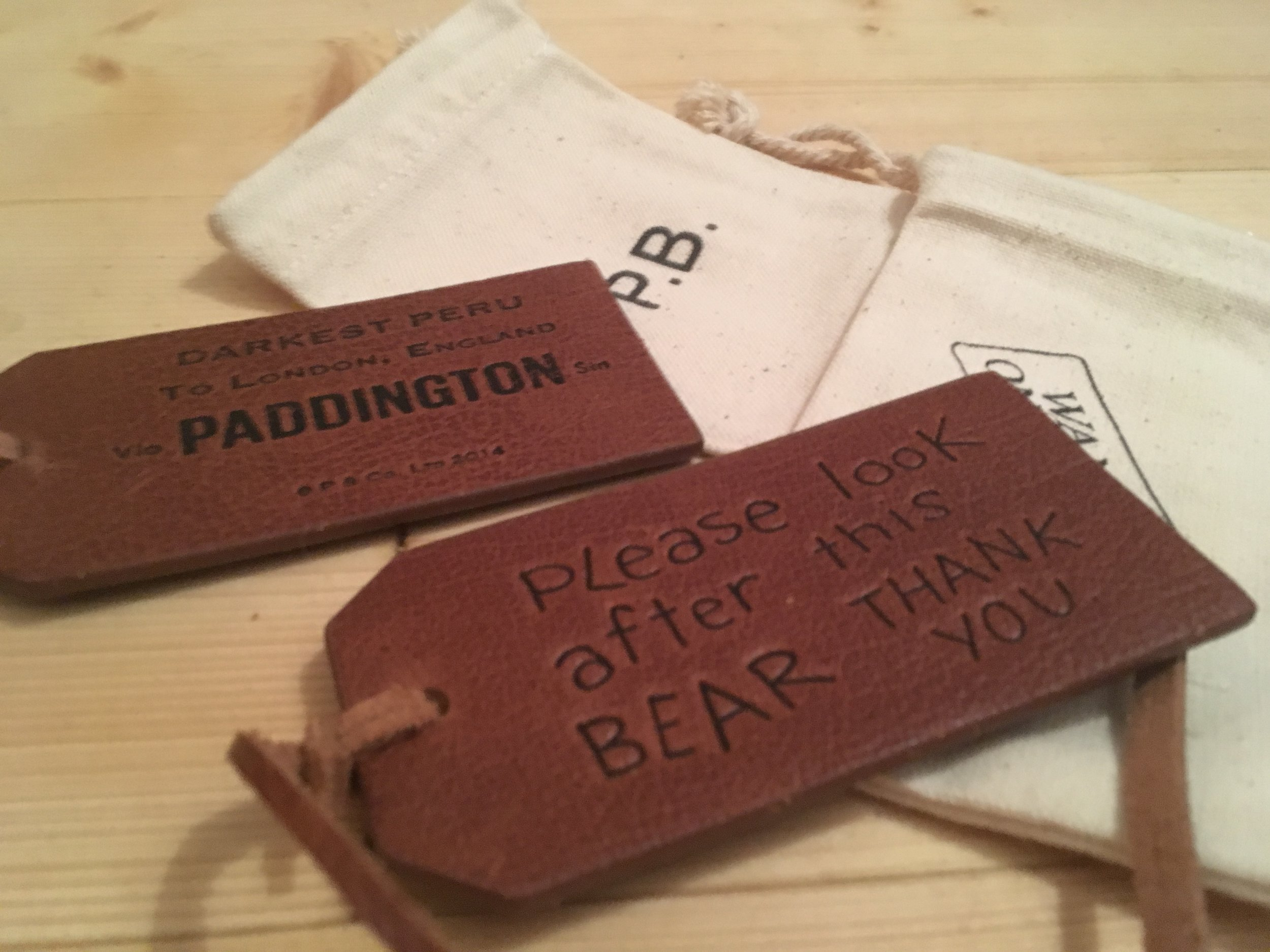 Soft leather replacement tag for your Gabrielle Designs Paddington Bear, down to 12.99 in this crazy, frenzied 'simply must have' Black Friday Xmas sale