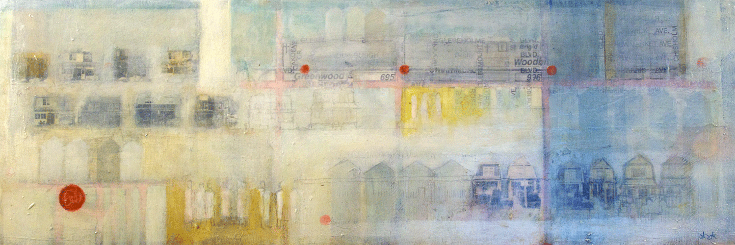 """Anne-Marie Olczak, Intersections 8"""" x 24""""  SOLD"""