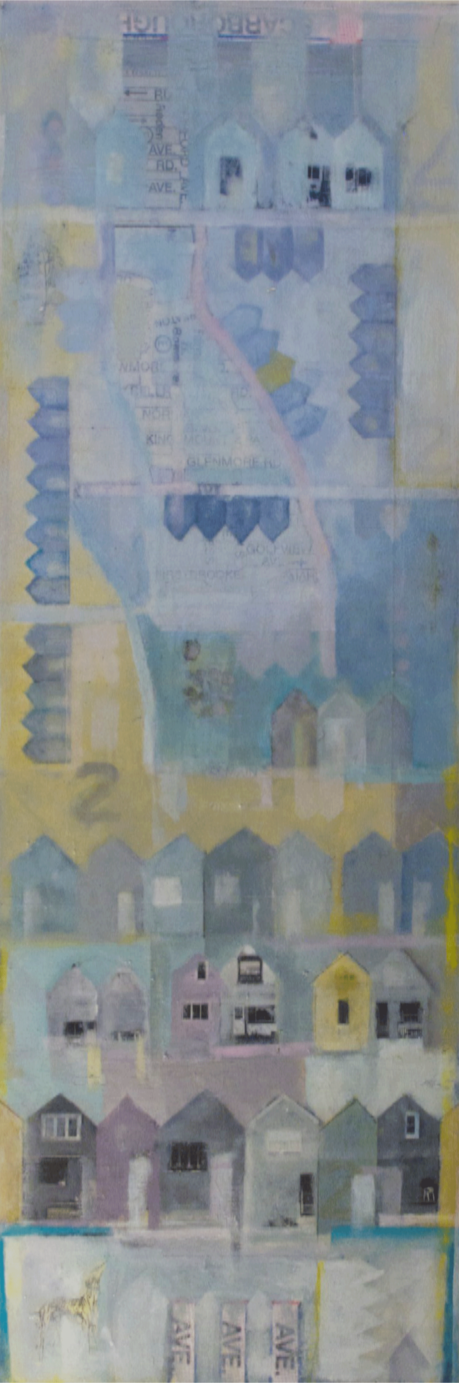 "Anne-Marie Olczak, Northwest & East  8"" x 24""  SOLD"