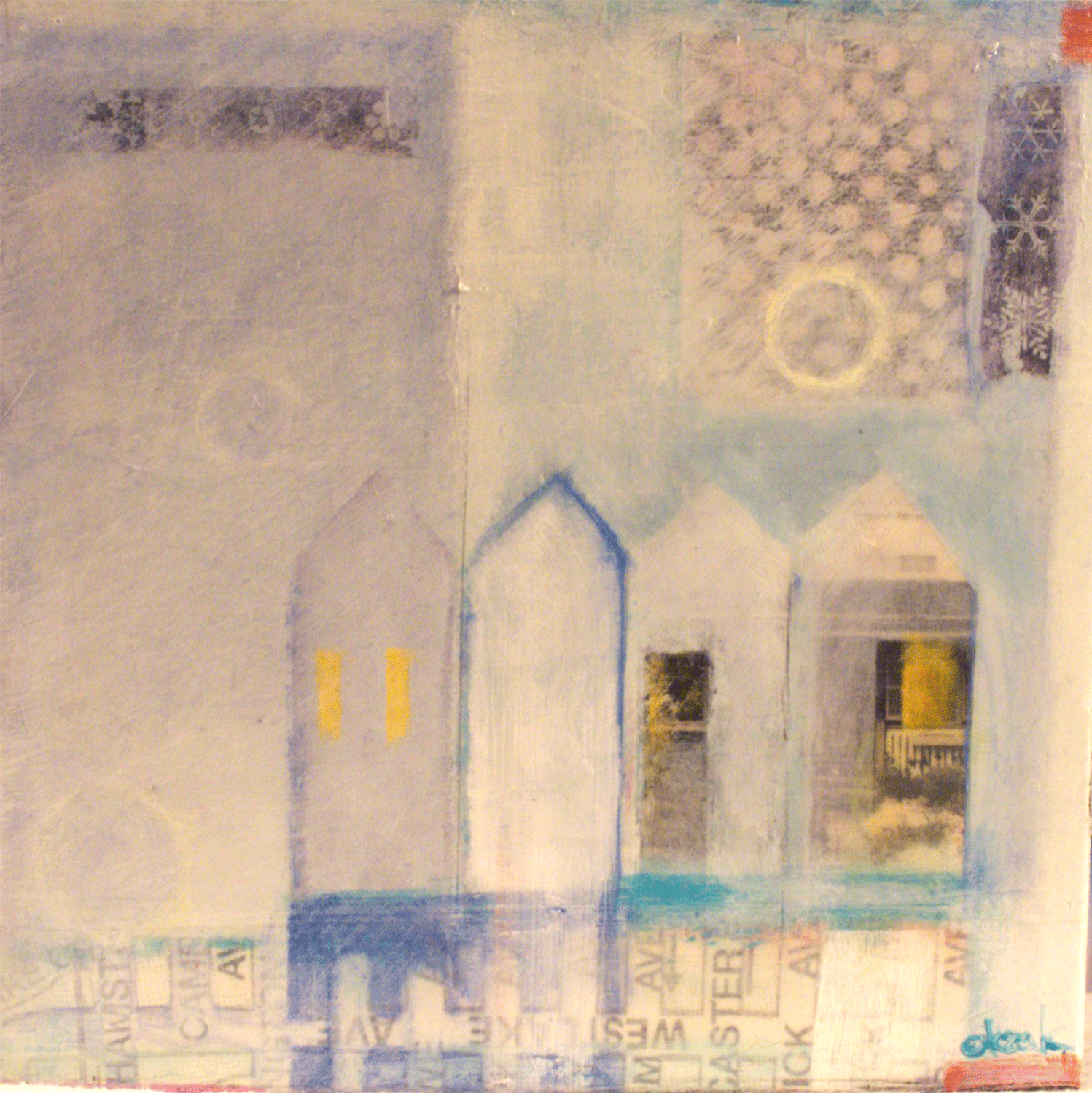 "Anne-Marie Olczak, Parkside       6"" x 6""    SOLD"