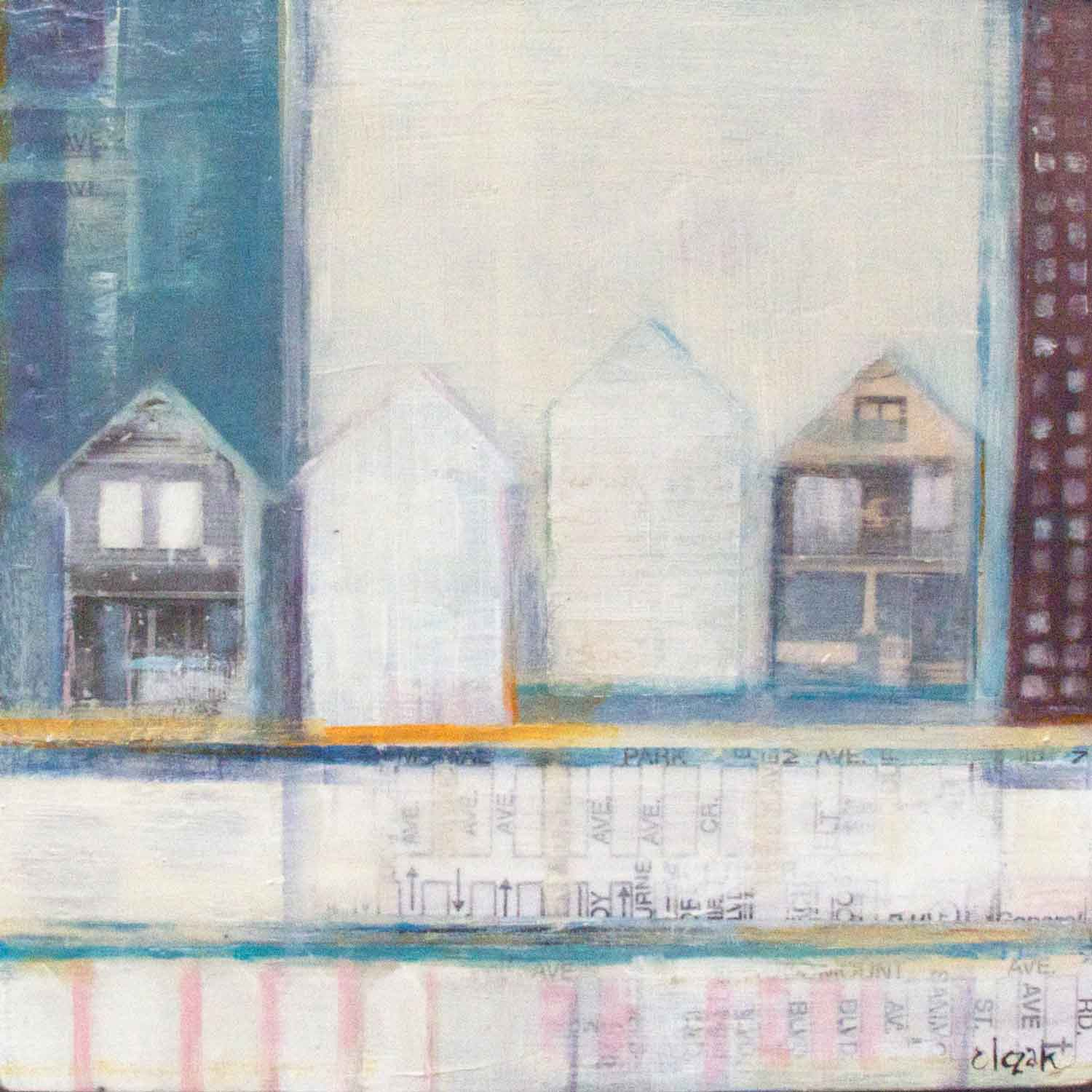 "Anne-Marie Olczak, Weathered 10""x10""   SOLD"