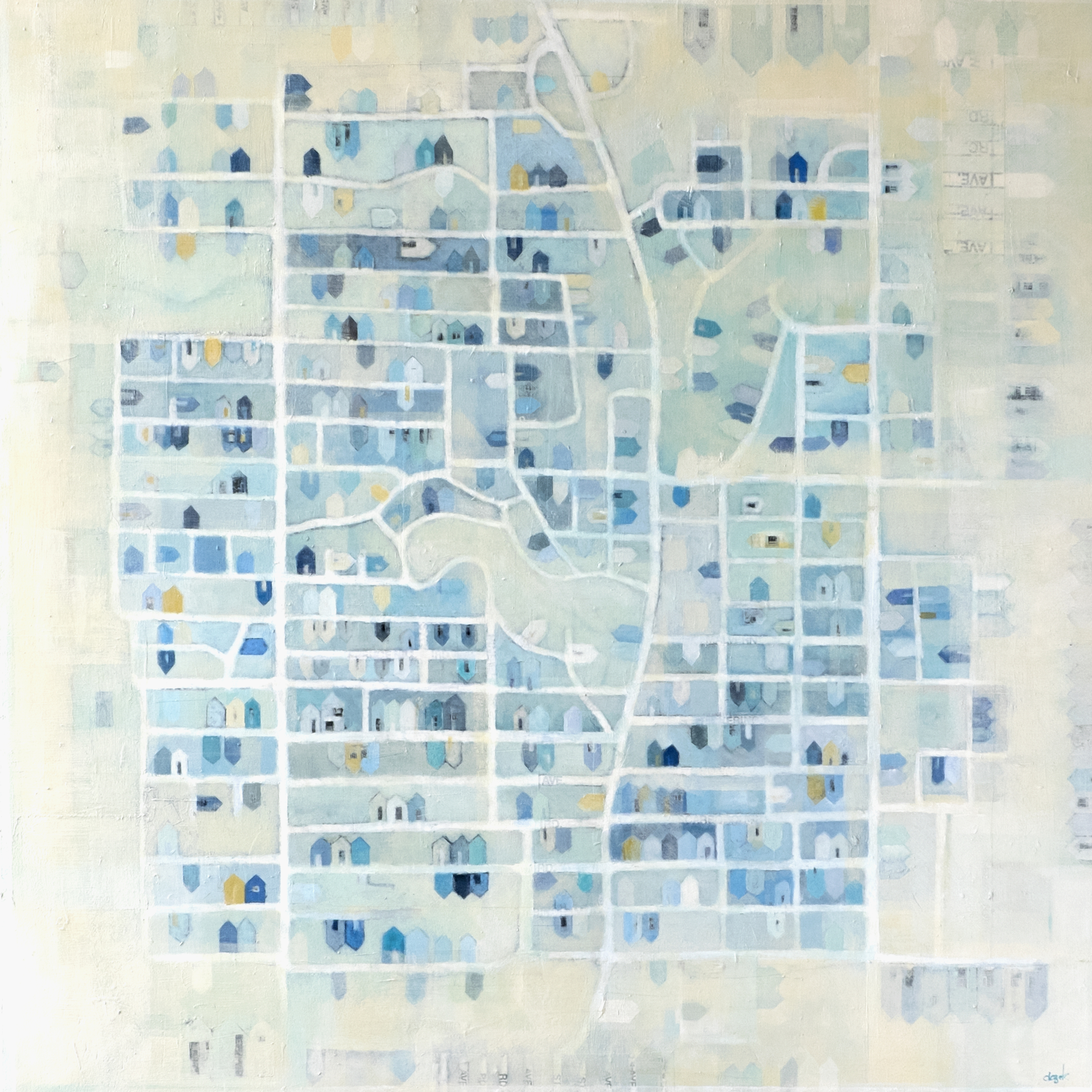 """Anne-Marie Olczak, THE KINGSTON RD 36x36""""  CONTACT ME - giclee prints available, please contact me or Cobalt Gallery (see Where section)     SHOP"""
