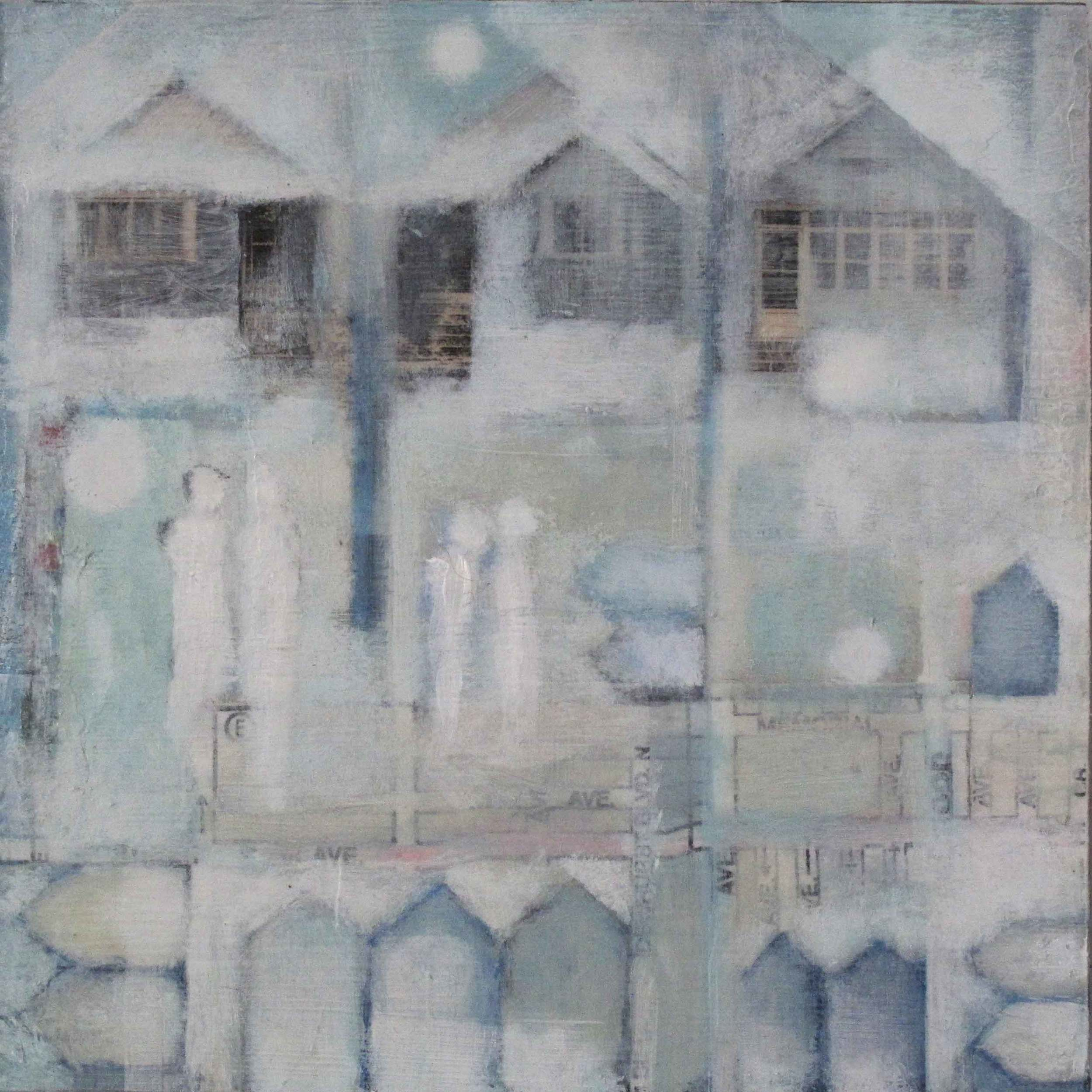 "Anne-Marie Olczak, Snow - First, 6x6""   SOLD"