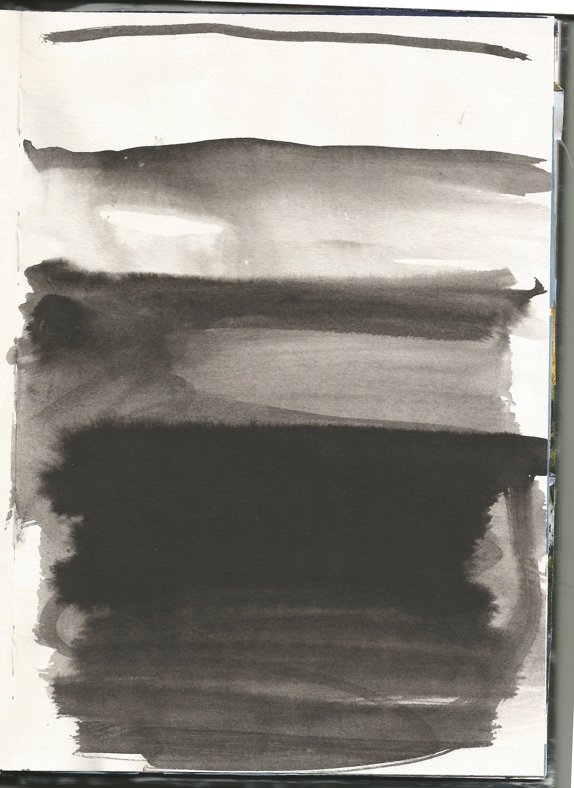 pen, ink, brush, wash - layers, scape