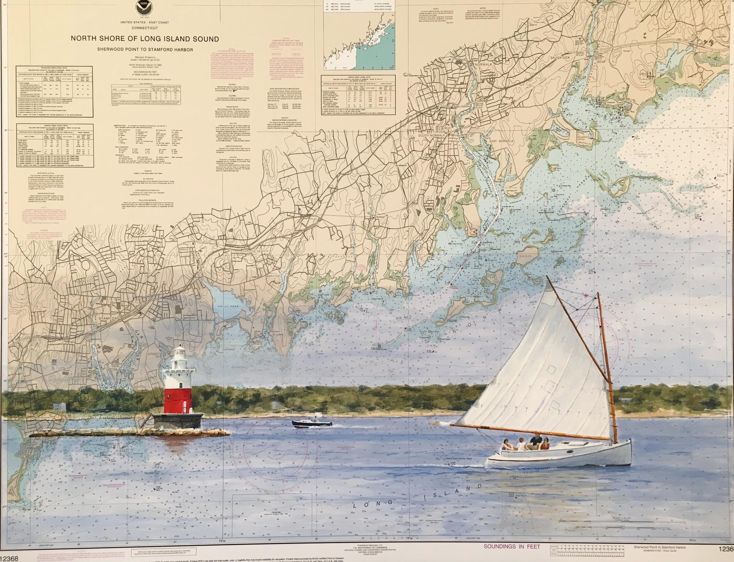 Sailing Past Greens Ledge