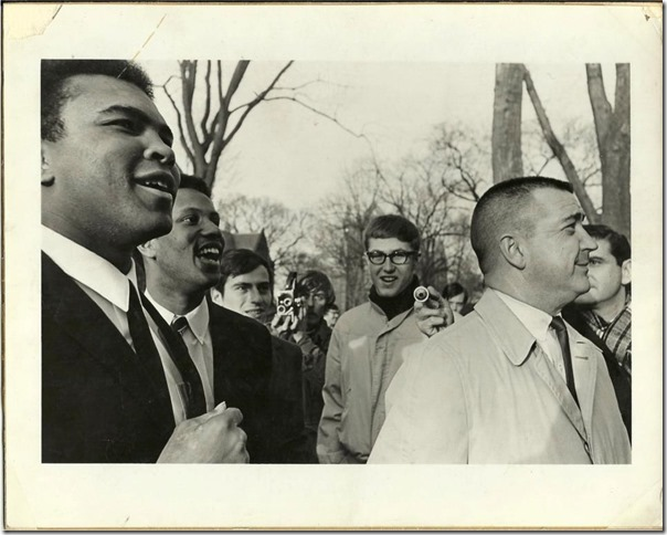 Muhammad Ali and Paul Williams, Class of 1968, at Princeton University in 1967.