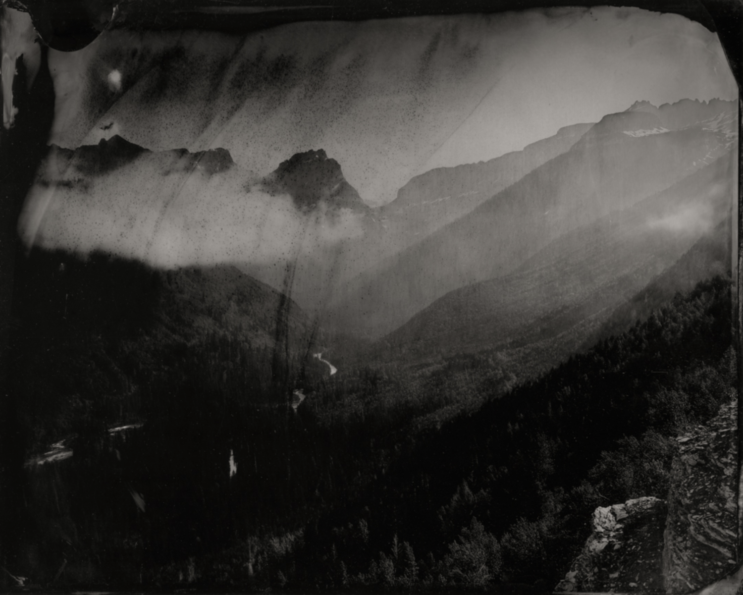 Mount Oberlin and Clouds #2 , 2019  Pigment print on Baryta paper  30 x 37.5 inches  Edition 1 of 7