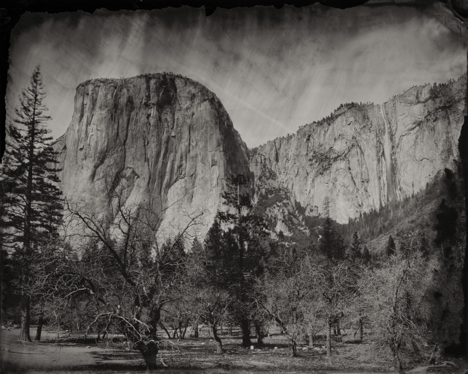 El Capitan and Waterfall , 2016  Pigment print on Baryta paper  30 x 37.5 inches  Edition 2 of 7